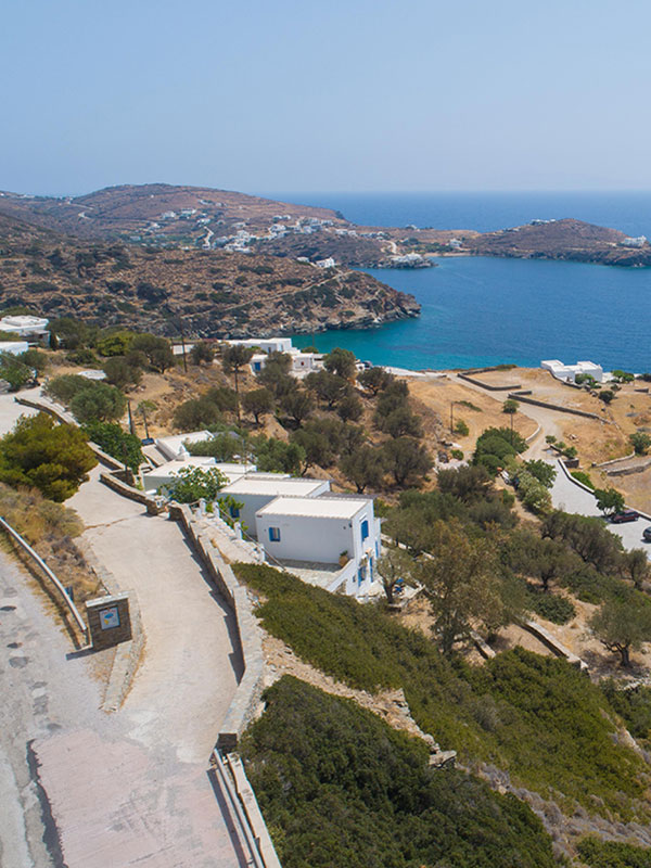 View to the Chryssopigi monastery in Sifnos